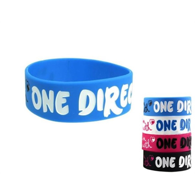 1 Width Debossed Silicone Wristband