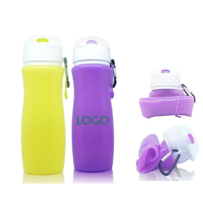 16 OZ Foldable Silicone Sport Water Bottle