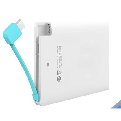 2500mah Credit Card Power Bank portable Power bank
