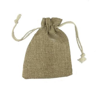 3.5 x 5 Handy Linen Drawstring Bag