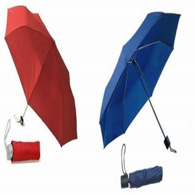 42 Navy Telescopic Super mini 3 section folding umbrella