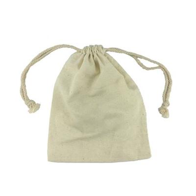 5 x 6.5 Handy  Cotton Canvas Drawstring Bag
