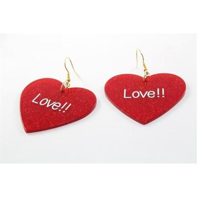 Acrylic Heart Shape Earrings