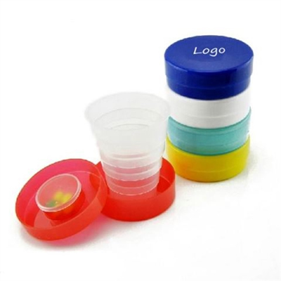 Collapsible Travel Cup With Pill Holder