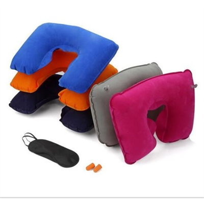 Comfort Pillow Travel Kit W/Ear Plugs & Eye Mask