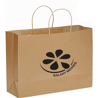Custom Printed Laminated Rope Handle Paper Shopping Bag