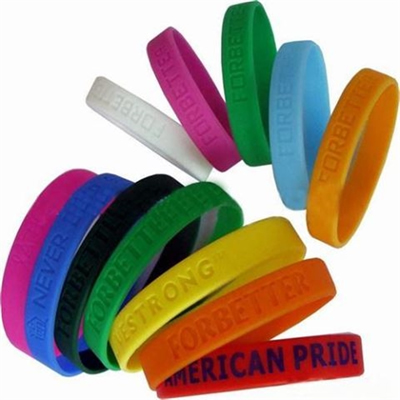 Debossed Silicone Bracelet Silicone Wristband
