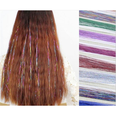 Glitter Hair Extensions Party Favors