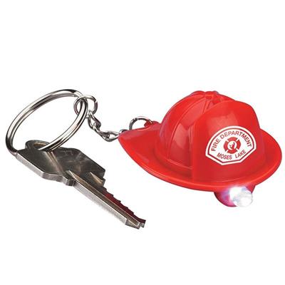 Key Ring LED Light-Fireman Hat