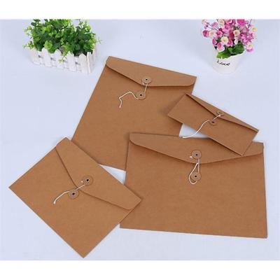 Kraft paper HandBag snap button Envelope File Bag