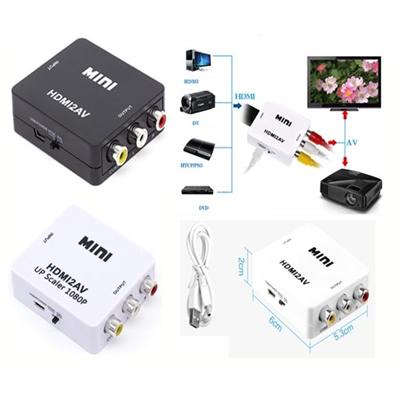 Mini HDMI Video Converter Box to RCA AV/CVSB L/R Video 1080P