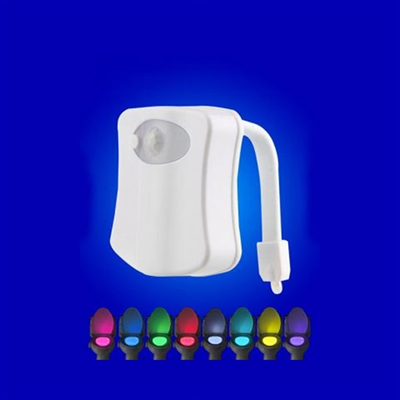 Motion Activated Toilet Bowl Nightlight 8 Vibrant Colors