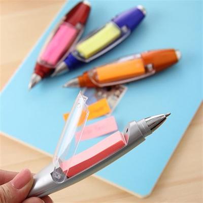 Note Paper LED Light Ballpoint Pen