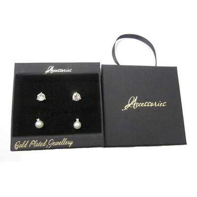 Pearl Cubic Zirconia Earrings Jewelry Box