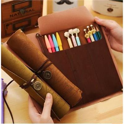Pirate's scrolls pencil bag