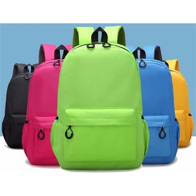 Simple clean color school backpack bag