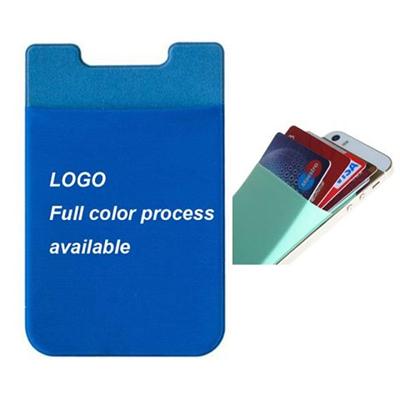 Spandex Phone Pocket Holding 5 Cards