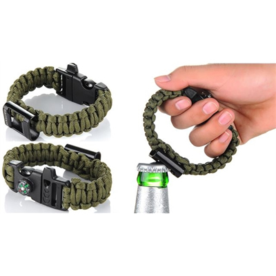 Survival Paracord With Bottle Opener And Compass