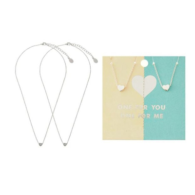 Tear & Share Heart Pendant Necklaces
