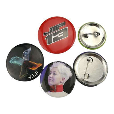 Tin Round Button Badge 2 Full Color